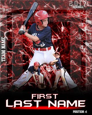 Explosion Poster-baseball