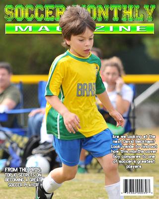soccer magazine cover